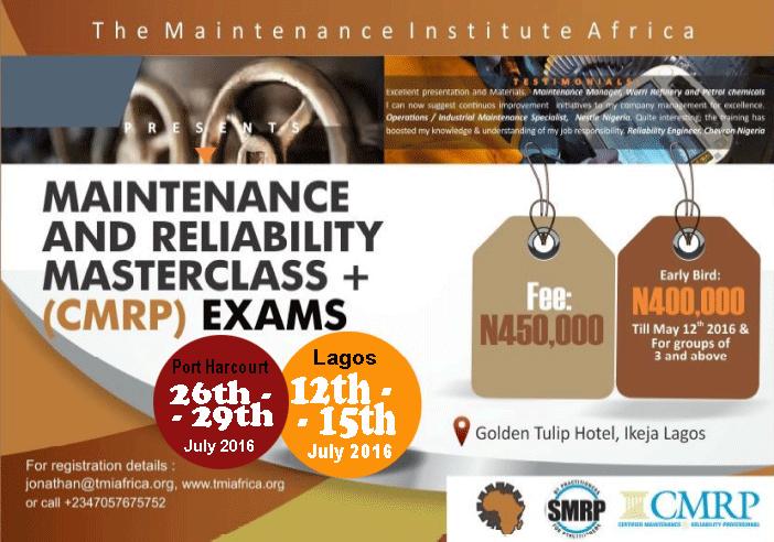 Maintenance & Reliability Masterclass Plus CMRP Certification Exams